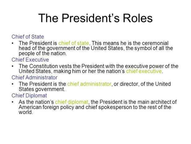 Roles Of The President Worksheet Photos - Jplew