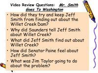 Mr Smith Goes To Washington Worksheet - Kidz Activities