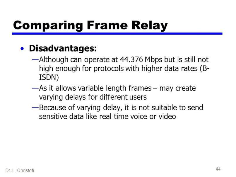 frame relay disadvantages | damnxgood.com