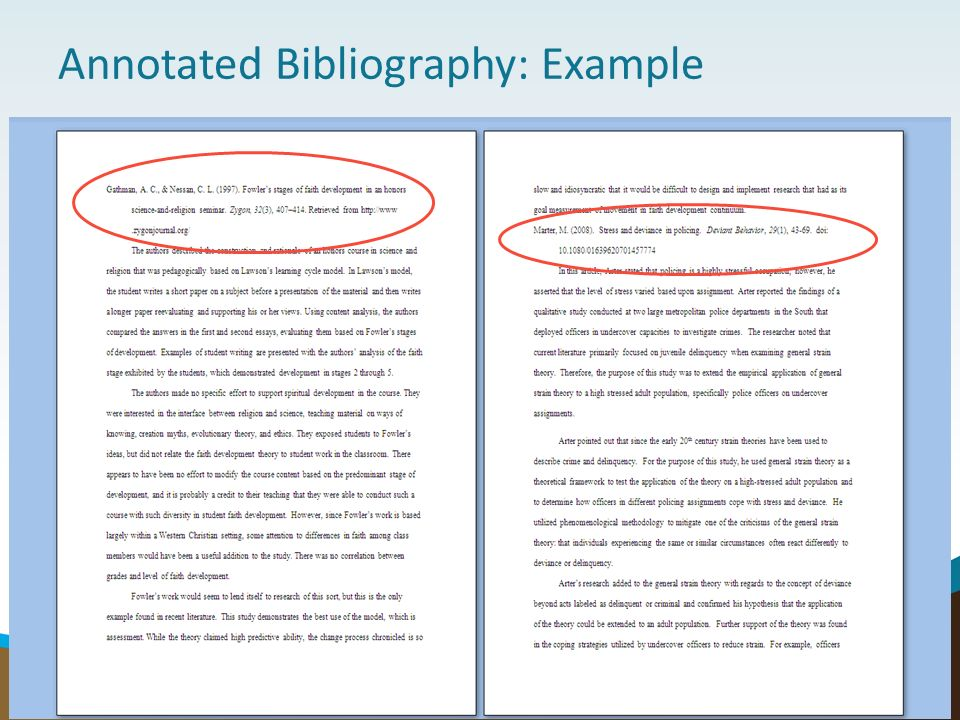 Literature Review And Annotated Bibliography Basics Ppt