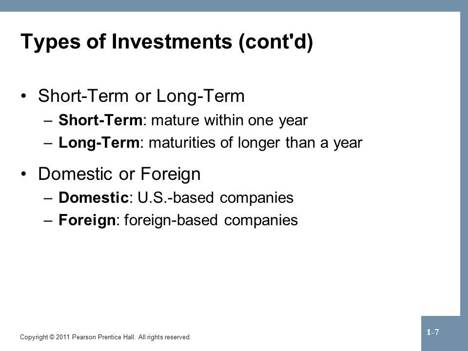 Ownership Types Securities