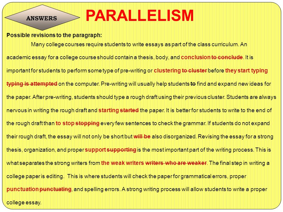 What Why And How? 13 PARALLELISM Ppt Video Online