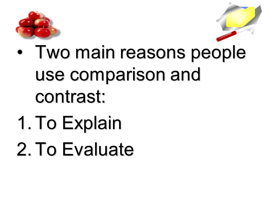 Comparison and contrast essay about two people