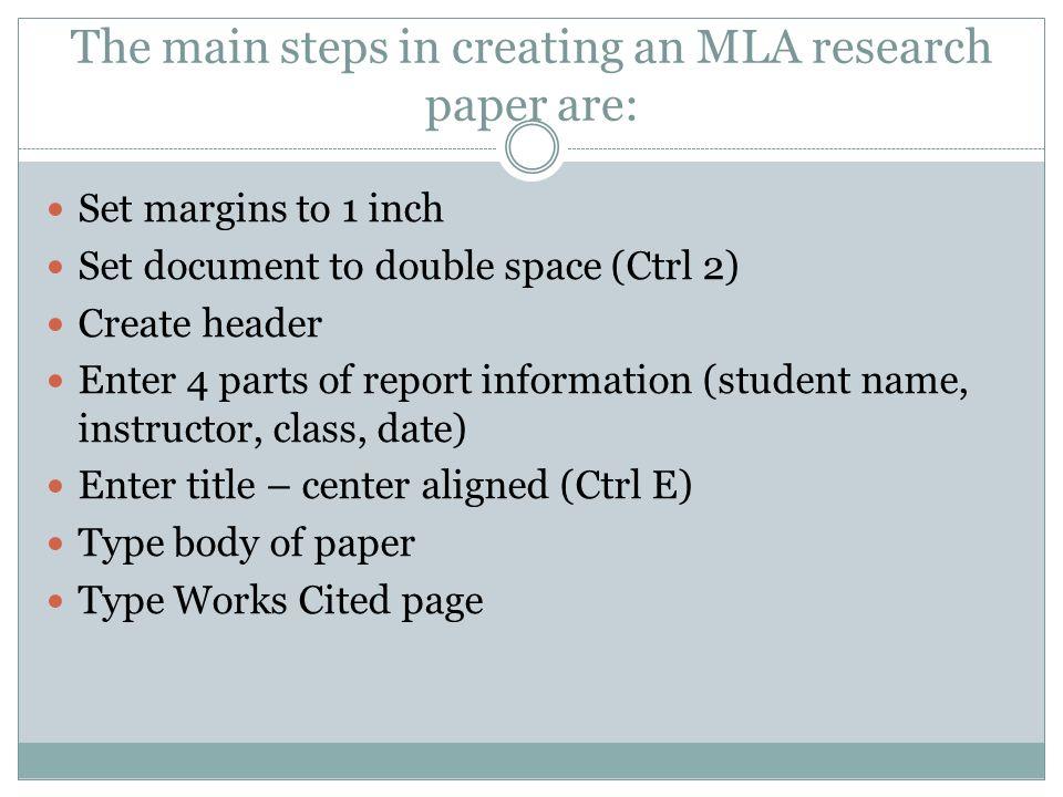 formatting mla paper