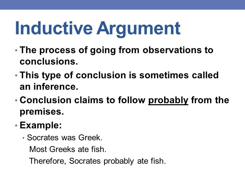 ARGUMENTS Deduction And Induction Ppt Download