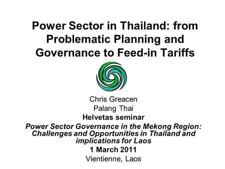 Thailand's Power Development Plan (PDP). Steps