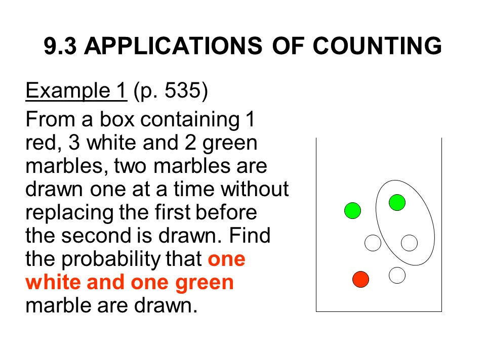 Counting, Probability Distribution and Further Topics on