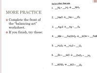 Balancing Act Worksheet Science. Balancing. Best Free ...