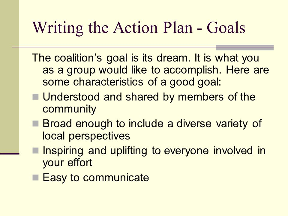 How to Write an Action Plan  ppt video online download