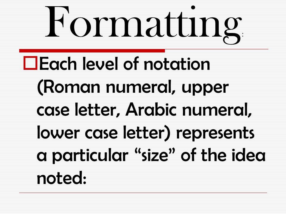 Paper outline roman numerals