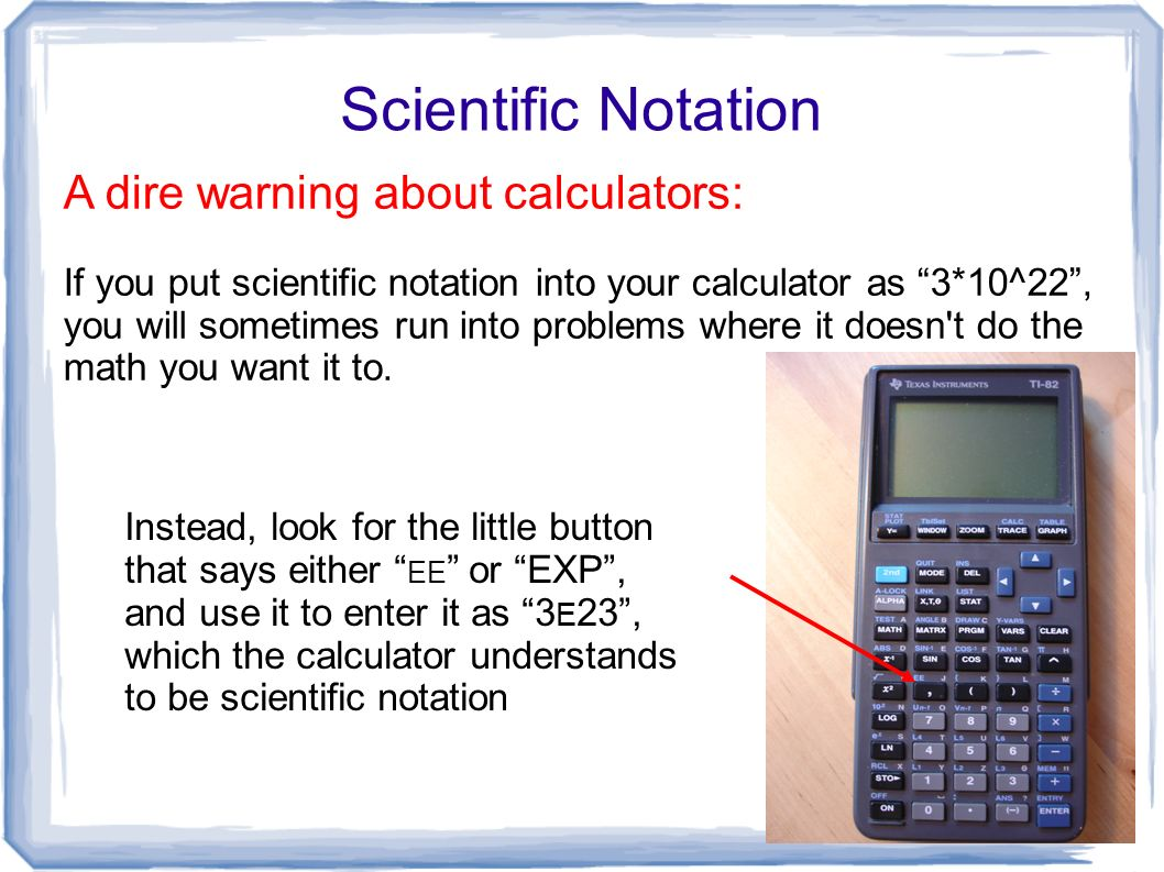Graphing Calculator Scientific Notation Ti Calculator