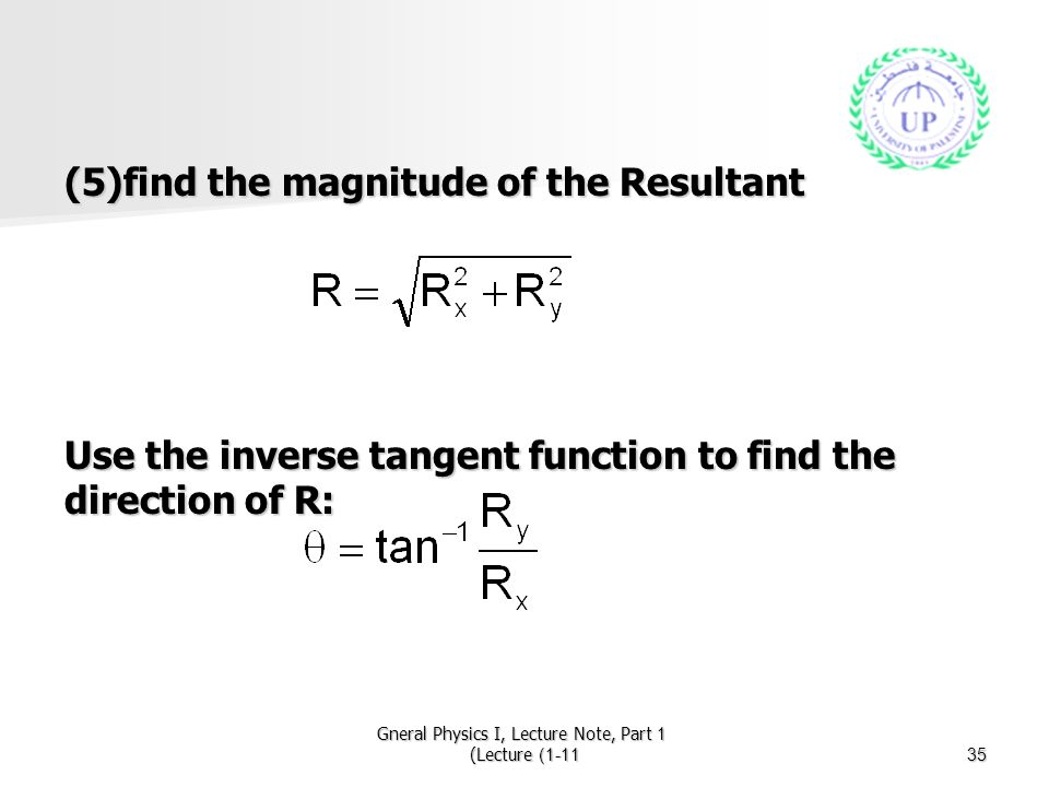 Gneral Physics I, Lecture Note, Part 1 (Lecture 1-11