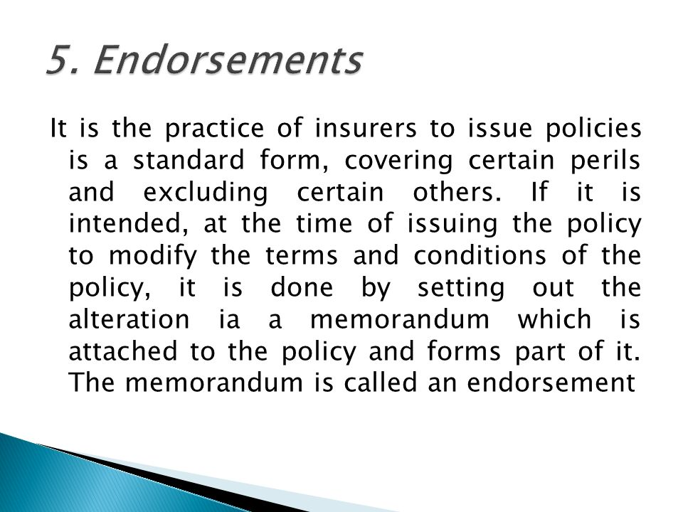 INSURANCE DOCUMENTS There are various insurance documents