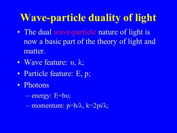 What Are Some Examples Of Waveparticle Duality Socratic - MVlC