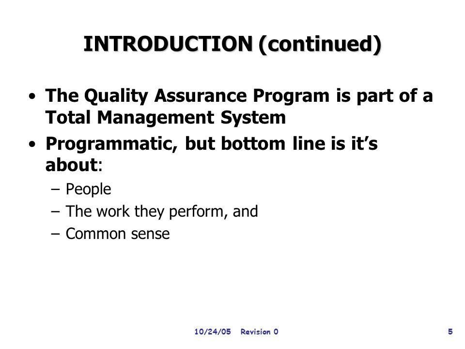 QUALITY ASSURANCE TRAINING DOE O 414.1C AND 10 CFR 830