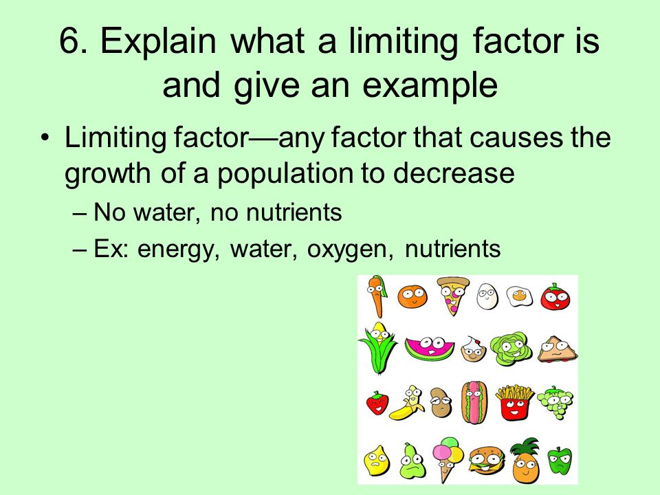 what is an example of a limiting factor