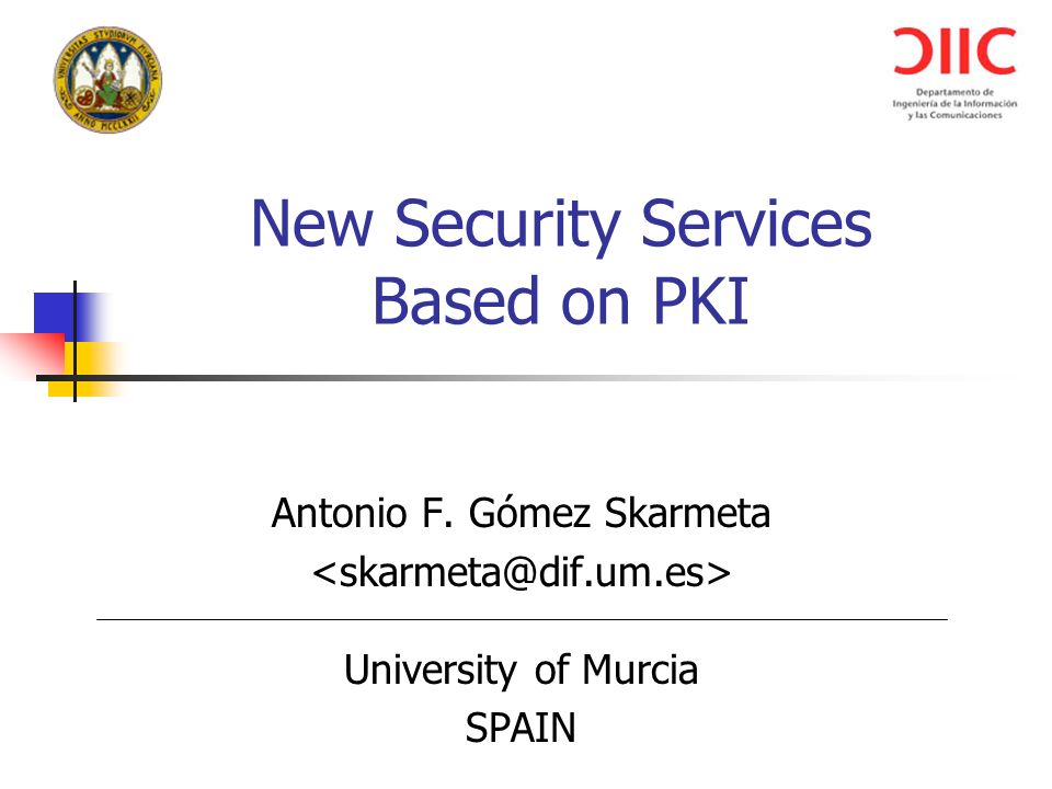 Pki Security Services