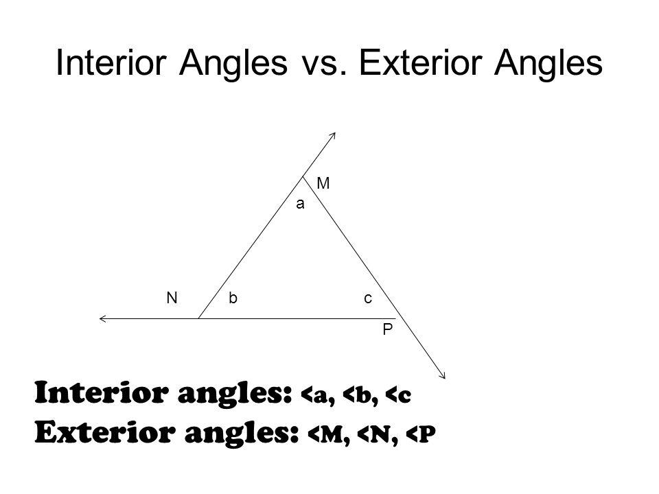 Exterior And Interior Angles Worksheet Choice Image