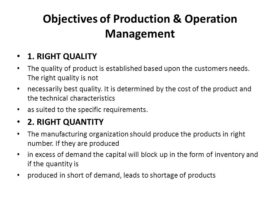 A PRESENTATI ON 1UNIT OF PRODUCTION & OPERATIONS