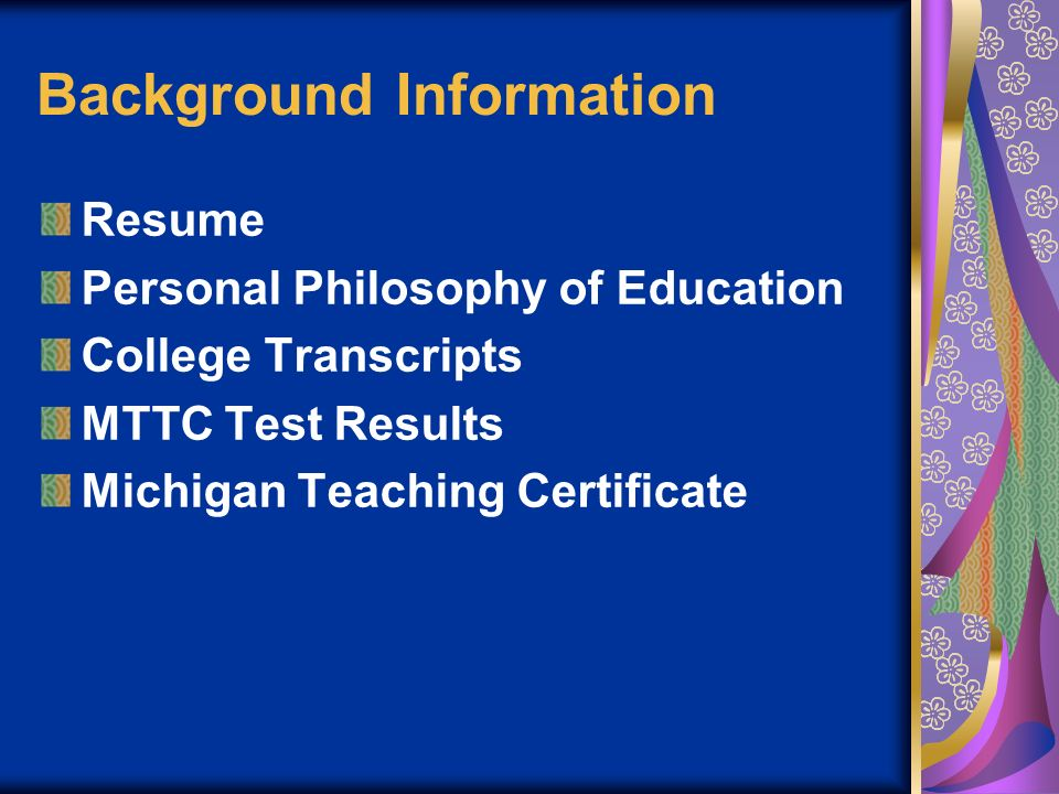 Siena Heights University Graduate Teacher Education REFLECTIVE PROFESSIONAL PORTFOLIO OF