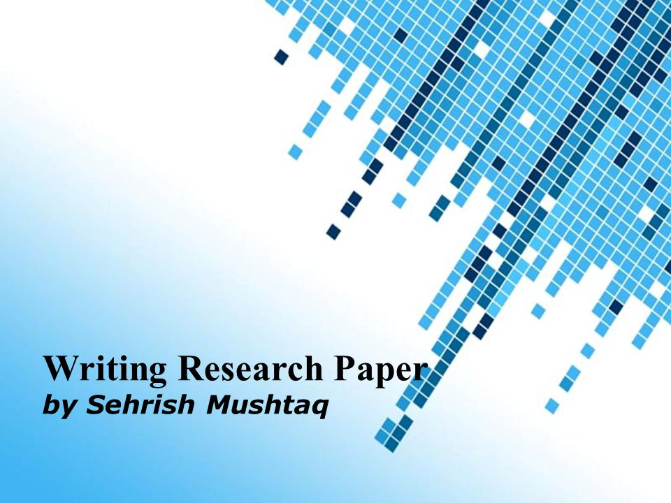 Writing Research Paper Ppt Video Online Download