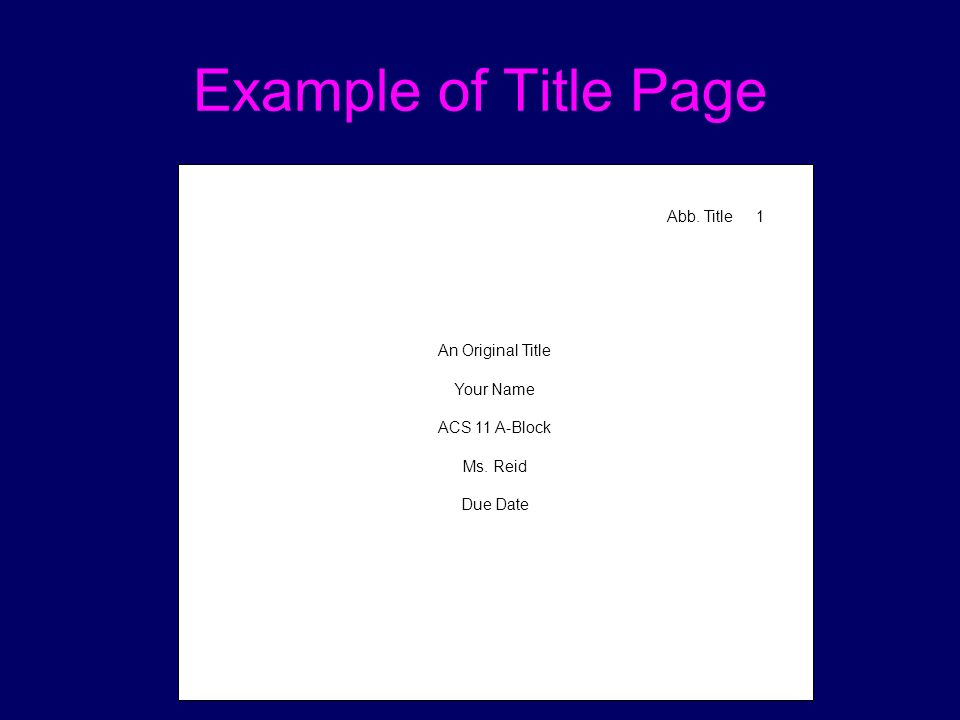 How To Write A Paper A P A Format Ppt Video Online