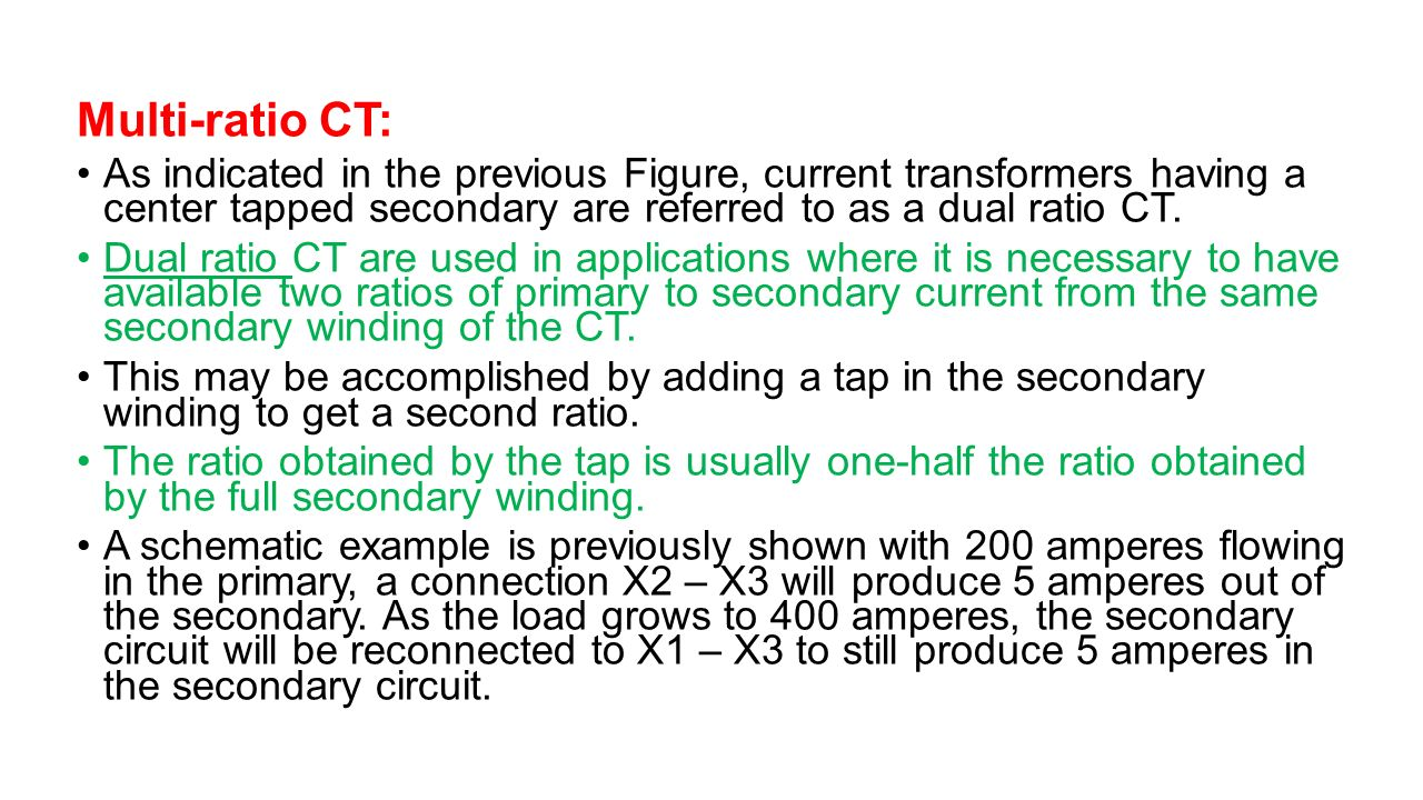 hight resolution of instrument transformers ppt video online download multi ratio ct 3a as indicated in the previous