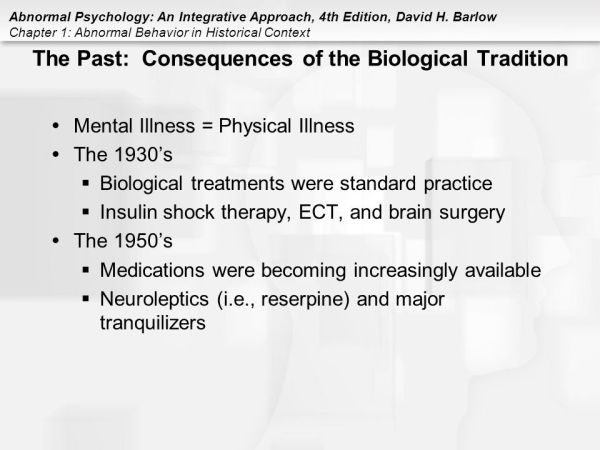 Chapter 1 Abnormal Behavior In Historical Context Ppt - MVlC