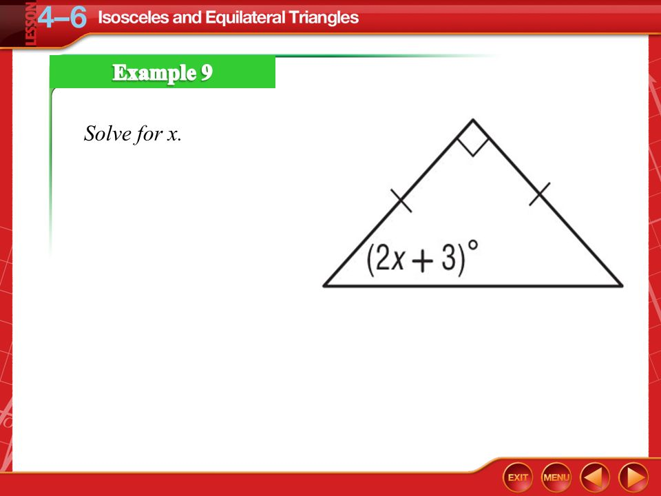 46 Isosceles, Equilateral, And Right Triangles Ppt