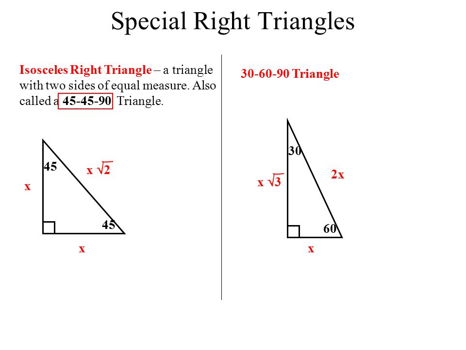 Special Right Triangles Worksheet Answer Key With Work Invations