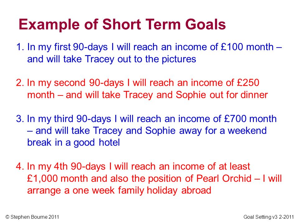 GOAL SETTING  ppt video online download