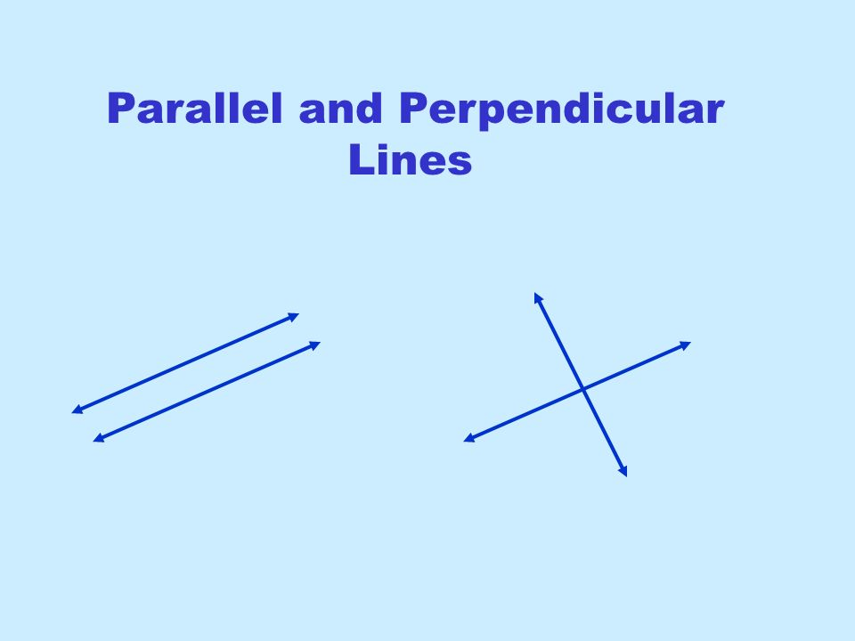 Parallel And Perpendicular Lines  Ppt Download
