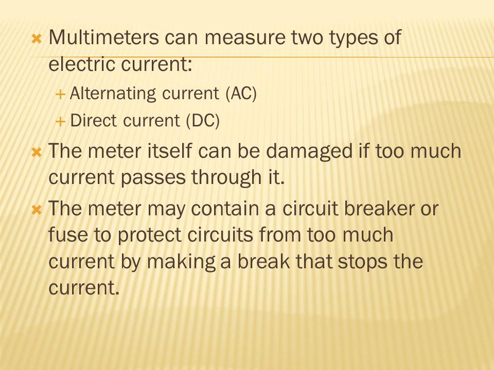 Dc Amp Meters Reading