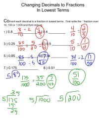 Free Worksheets  Convert Fractions To Decimals Worksheet