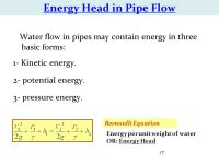 CHAPTER 1: Water Flow in Pipes