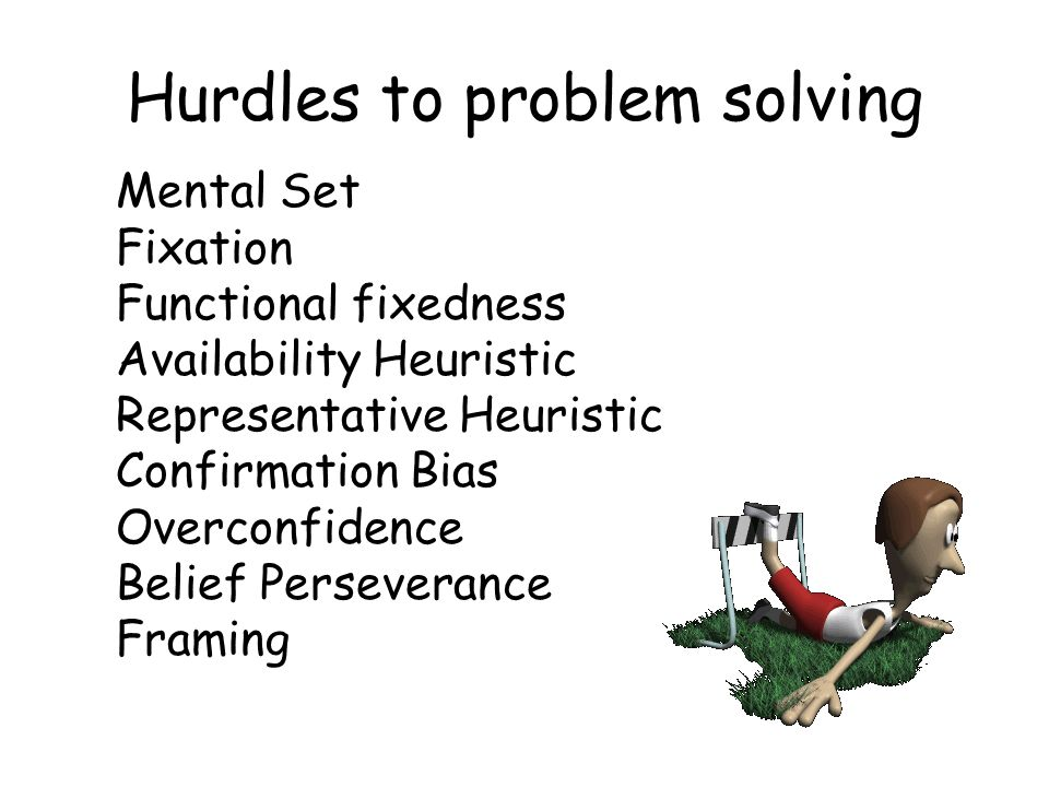 Problem solving scenarios for mental health