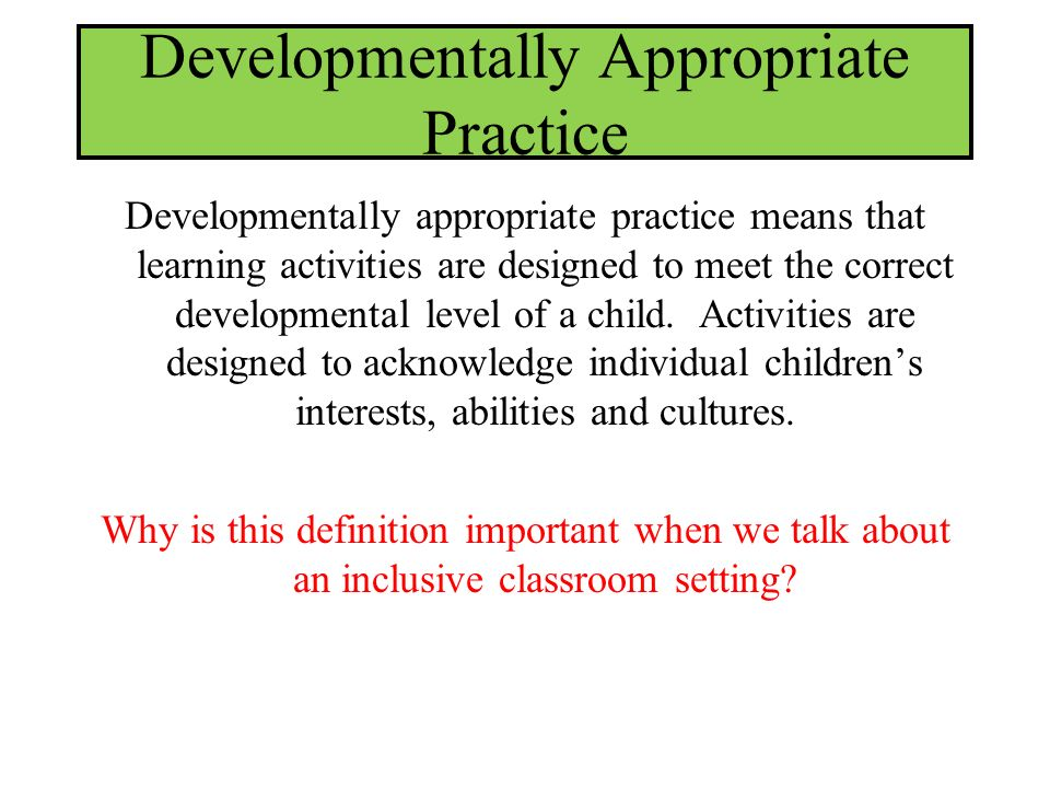 in the Inclusive Classroom  ppt download
