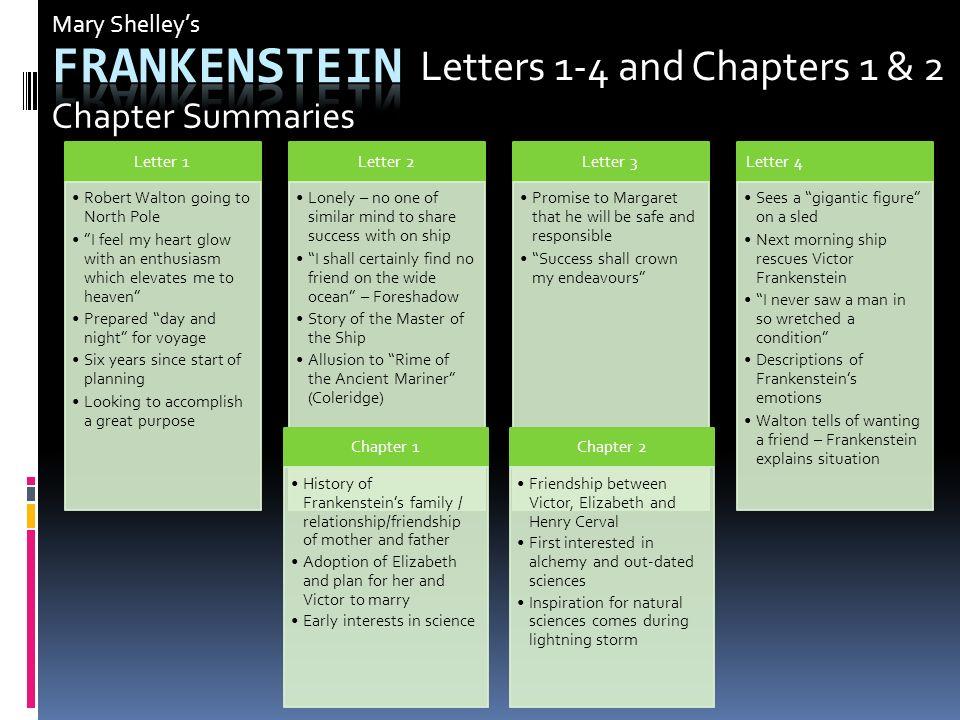 frankenstein letter 4 summary  mary shelley frankenstein ppt download frankenstein letters