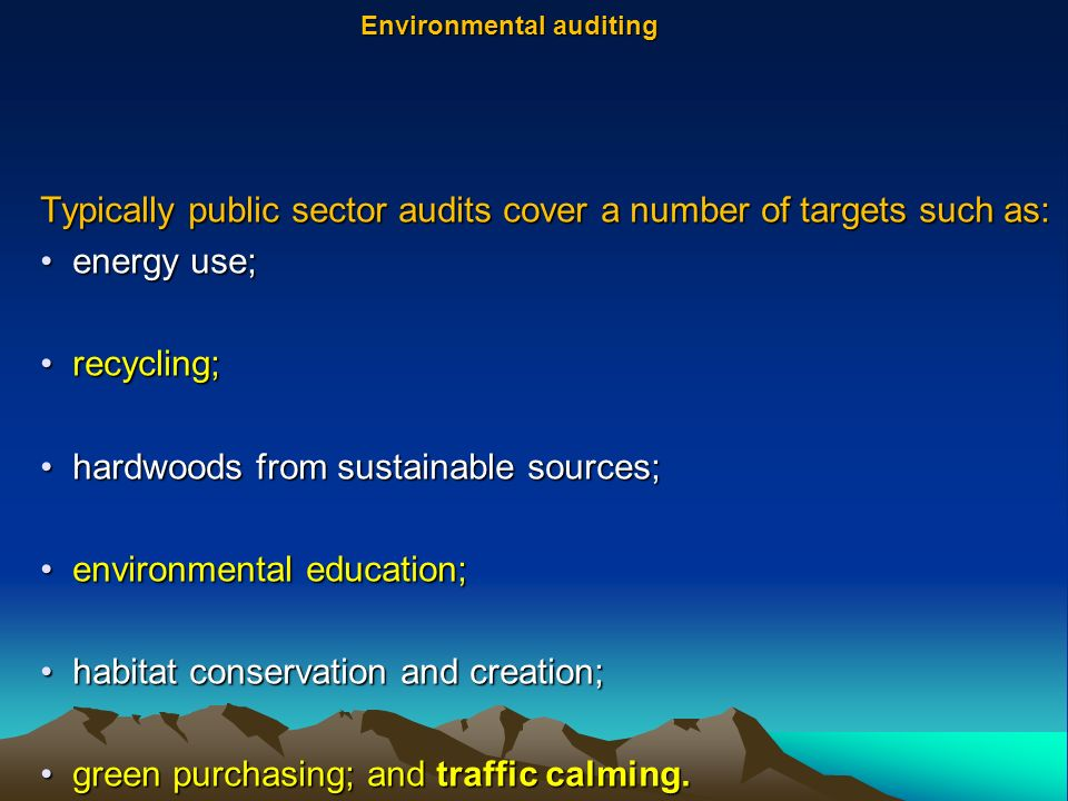 Environmental auditing  ppt video online download