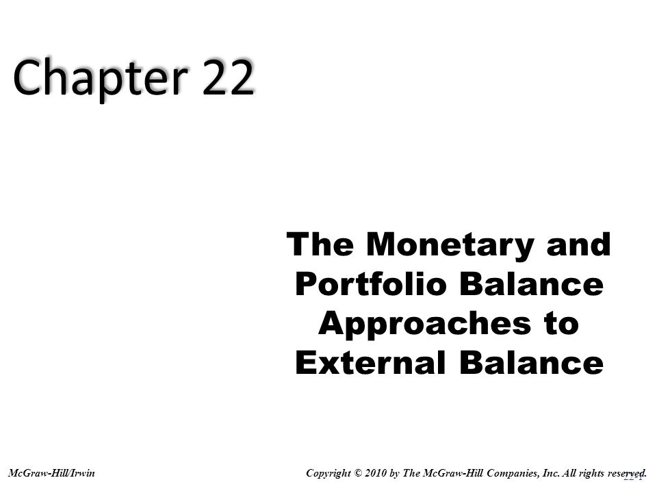 The Monetary and Portfolio Balance Approaches to External