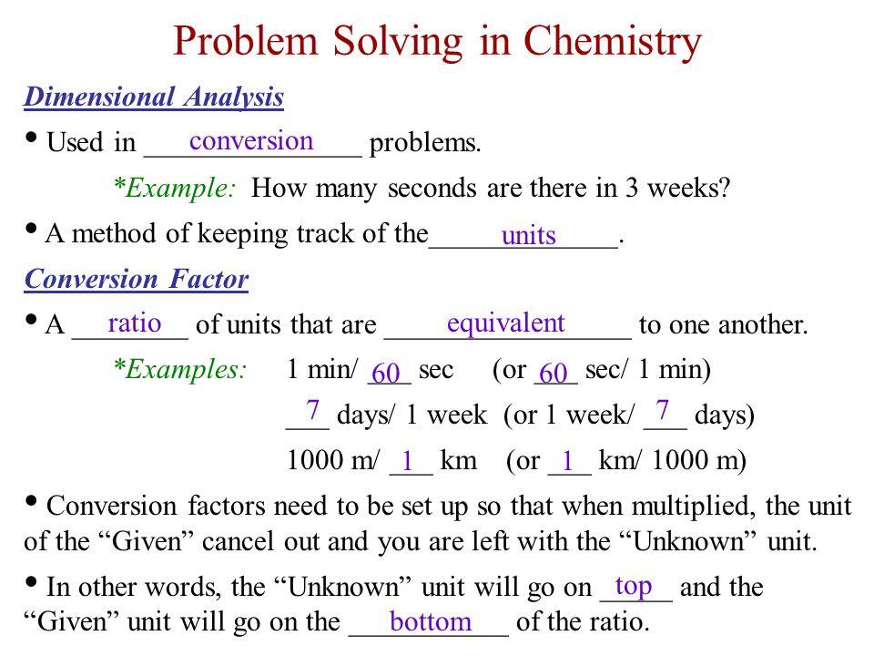 Problem Solving In Chemistry  Ppt Video Online Download
