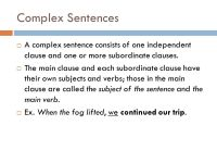 Printable Worksheets  Subordinate Clauses Worksheets