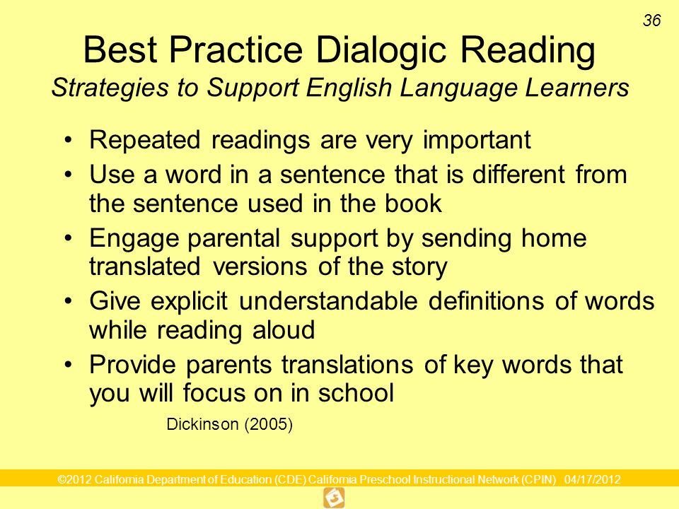 Dialogic Reading Foundations And Framework Volume 1 Ppt