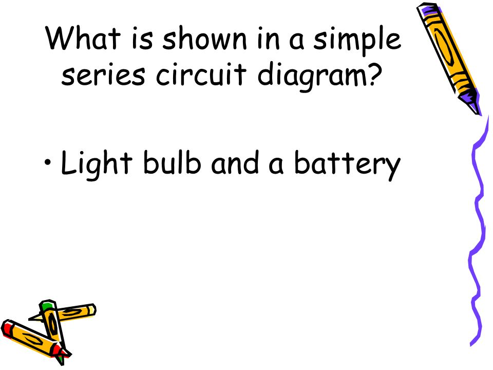 simple series circuit diagram