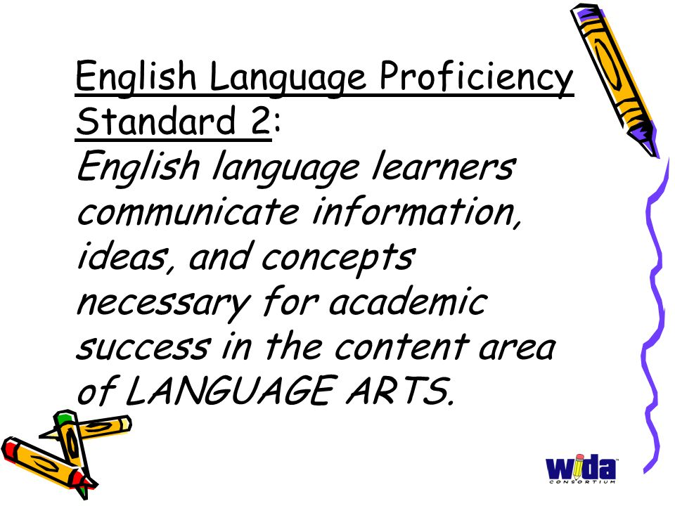 Using ELL Tools Effectively: WIDA Standards for