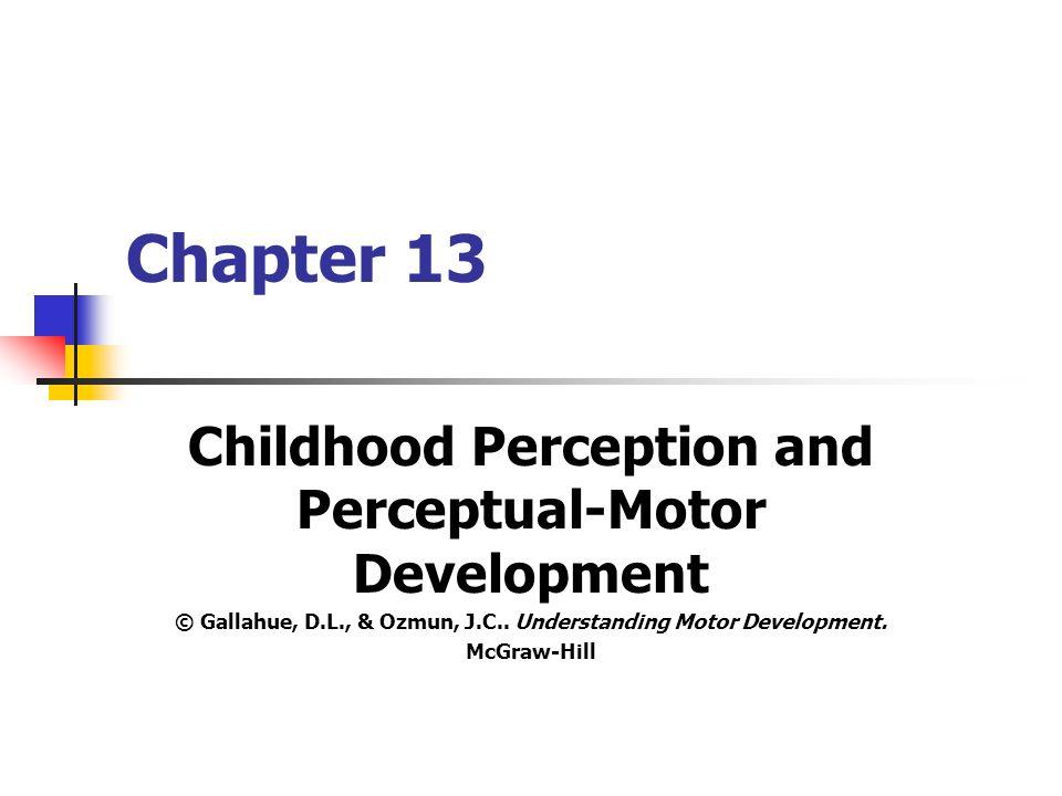 Chapter 13 Childhood Perception and Perceptual-Motor