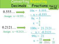 Printable Worksheets  Converting Repeating Decimals To ...