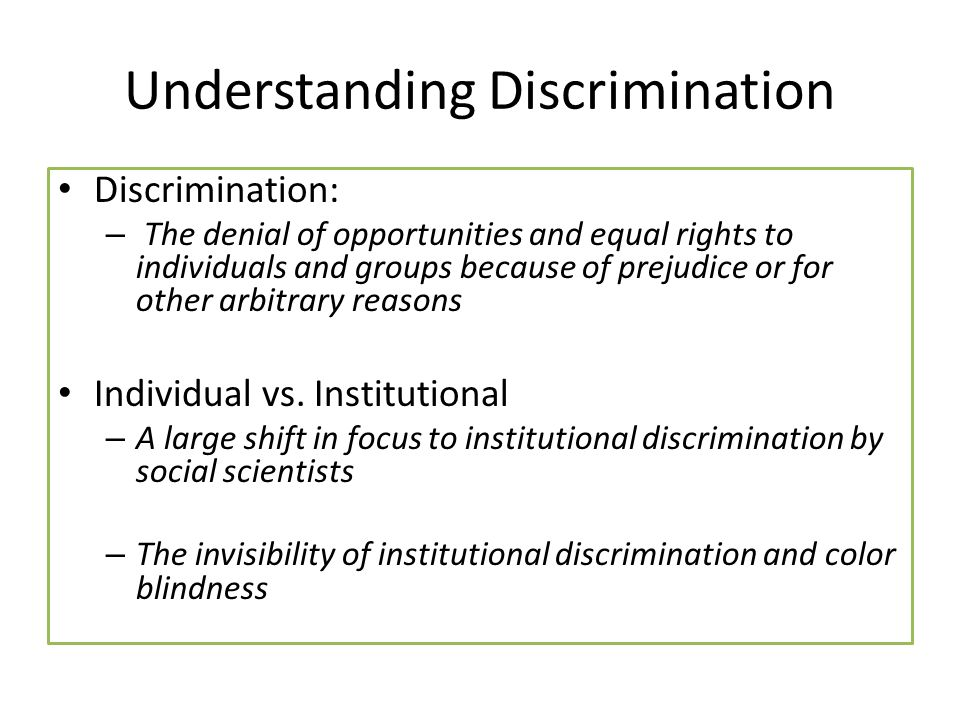 Individual Discrimination Hate groups  ppt download