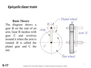 Types of Gear Trains Simple gear train Compound gear train
