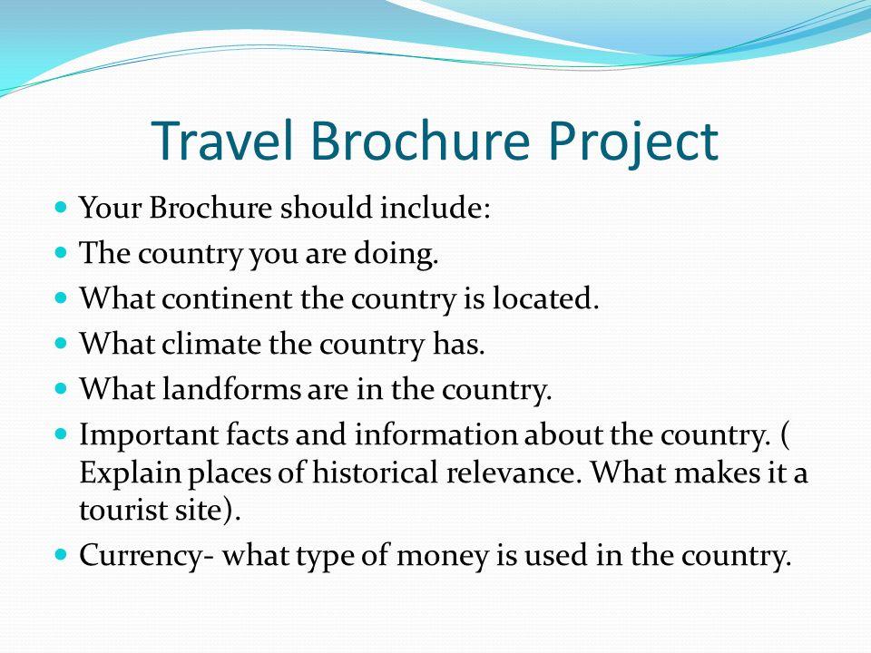Travel Brochure Project  ppt video online download